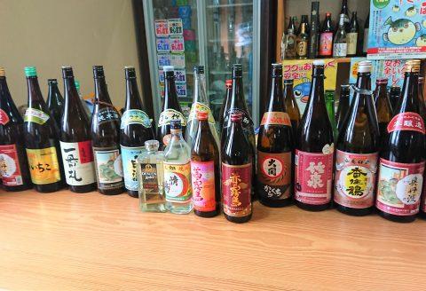 お酒各種(550円より) 丹波・北近畿の地酒をご用意しています