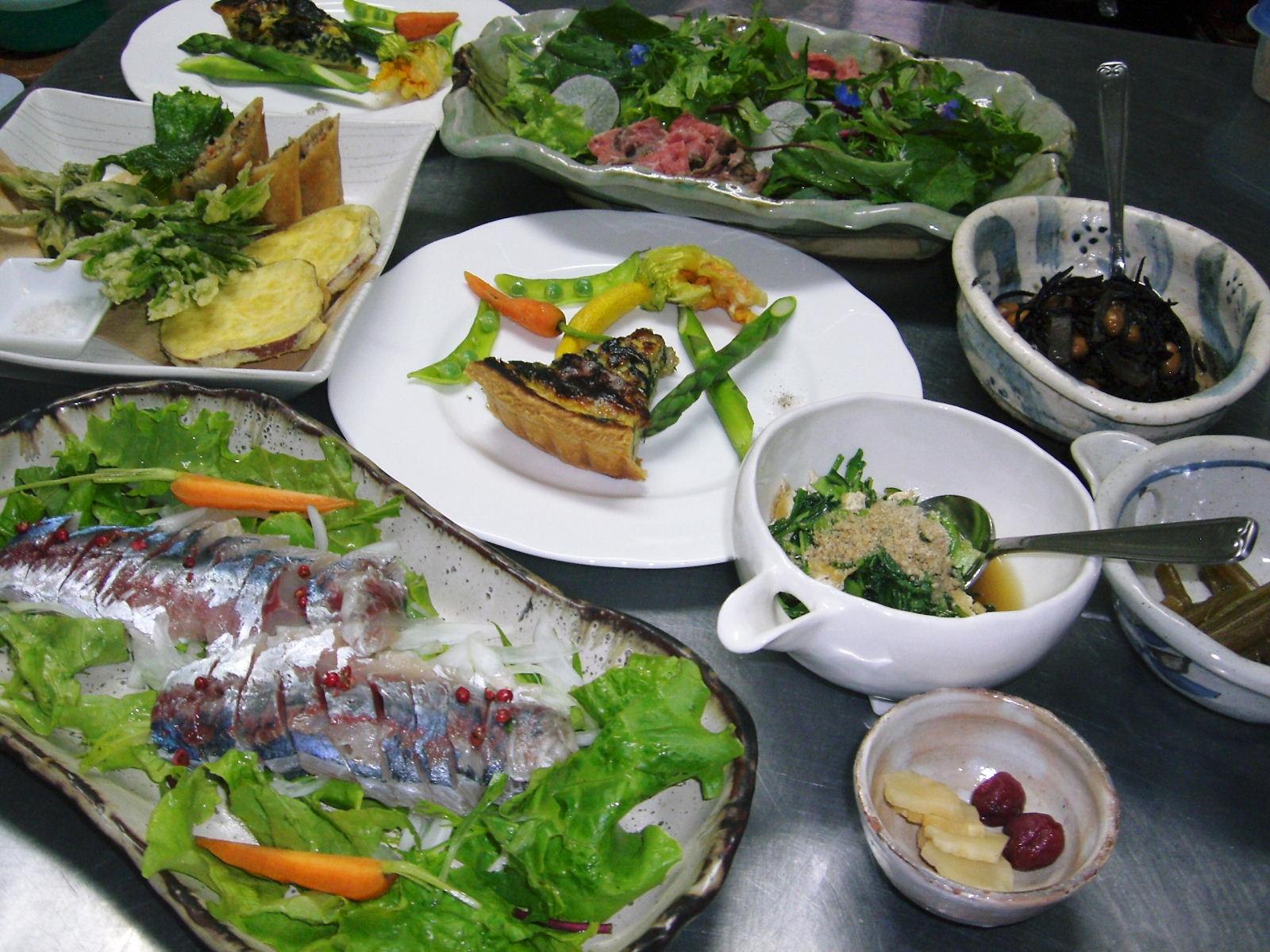 お野菜たっぷりの夕食